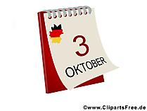 Dag van Duitse eenheid afbeelding, clipart, illustratie