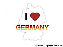 Ik hou van Duitsland pic, clip art, afbeelding