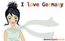 Plagát Milujem Nemecko s krásnou ženou