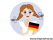 Dag van de Duitse eenheid Clipart