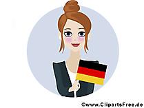 Dag van de Duitse eenheid vakantie afbeelding, poster, illustraties