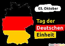 Șablon transparent pentru Ziua Unității Germane în format PNG
