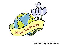 Gratis grappige wenskaarten voor Earth Day