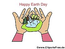 Ansichtkaart voor de dag van de aarde