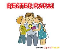 Geschenk für Papa - Cliparts zum Vatertag