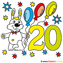 20 Jahre Glückwünsche