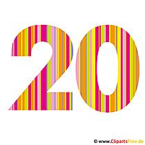 20 Jubiläum Bild - Karte - Clipart