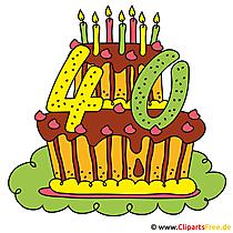 40 Jahre Geburtstagsparty Clipart - Bild