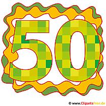 50 Jubläum Bild, Glückwunschkarte, Clip Art