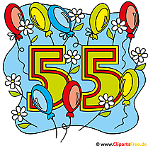 55 yıl clipart ücretsiz