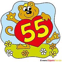 55 Jubiläum Clipart-Bild