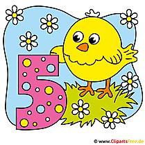 5 Jahre Geburtstag Clipart, Bild, Image