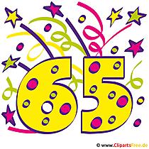 65 Geburtstag Clipart