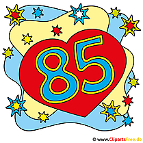 85 birthday card for free