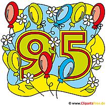Bild Jubiläum gratis - 95 Jahre