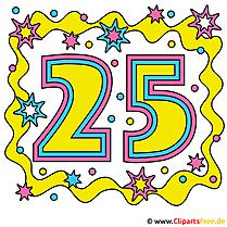 Einladung zum 25 jahrigen Jubilaum selbst machen mit free Clipart