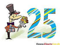 Geburtstagsgrüsse Bilder, Karten, Cliparts zum 25 Geburtstag