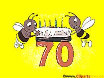 Geburtstagskarten - Glückwünsche selbst gestalten zum 70 Geburtstag