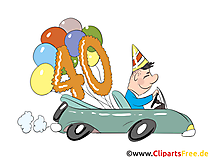 Geburtstagswünsche lustig zum 40 Geburtstag - Karte, Danksagung, Einladung, Grusskarte