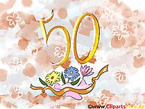 Happy Birthday 50 Jahre Geburtstagsgruss,  Clipart, Bild, Karte