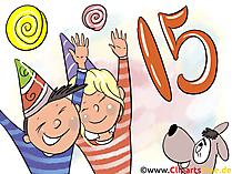 Happy Birthday funny Grusskarte, Bild, Glückwunschkarte, Clipart kostenlos