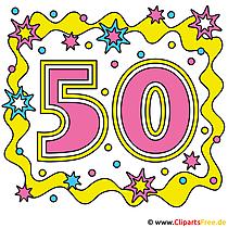 Jubiläum 50 - Clipart-Bilder kostenlos