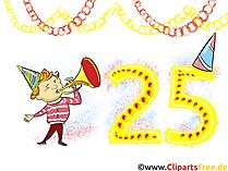 Klappkarten basteln -Geburtstage, Glückwünsche, Cliparts