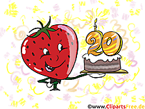 20 Jahre Geburtstags Cliparts kostenlos