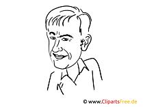 Roland Kaiser Zeichnung, Cartoon, Karikatur