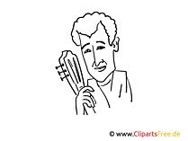 Semino Rossi Zeichnung, Cartoon, Karikatur