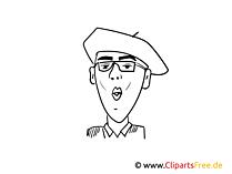 Xavier Naidoo Zeichnung, Cartoon, Karikatur