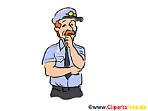 Amerikanischer Polizist Clipart, Bild, Buchillustration, Grafik, Cartoon, Comic