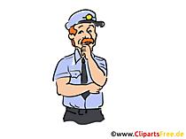 Amerikanischer Polizist Clipart, Bild, Buchillustration, Grafik, Cartoon, Comic
