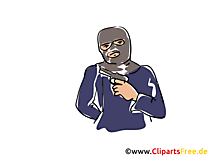 Bankräuber Clipart, Illustration, Cartoon