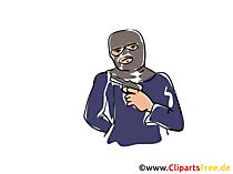 Bankräuber Clipart, Illustration, Cartoon
