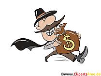 Bankräuber Clipart zu Karneval, Fasching