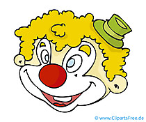 Clown Clipart, Bild, Cartoon, Grafik, Illustration