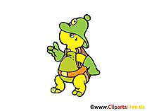 Comic Schildkroete Clipart, Bild, Grafik, Cartoon, Zeichnung gratis