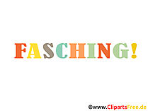 Fasching Illustration, eCard, Bild, Clipart