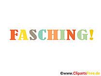 Fasching Illustration, eCard, Bild, Clipart