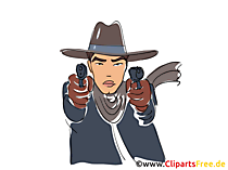 Gangster Clipart, Bild, Buchillustration, Grafik, Cartoon, Comic