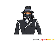 Gauner Clipart, Bild, Buchillustration, Grafik, Cartoon, Comic