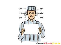 Häftling Clipart, Bild, Illustration kostenlos
