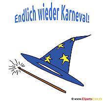 Hexenhut Clipart fuer Karneval