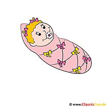 Baby Clipart im Krankenhaus - Bilder für Eltern