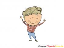 Dreng i børnehaven - gratis clipart til børn