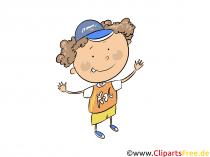 Dreng i grundskole - børn clipart
