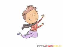 Boy Jumps - Kids Clipart gratis
