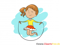 Springtov i fysisk træning - daglige rutine cliparts til folkeskolen
