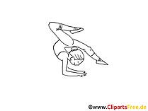 Yoga Zeichnung, Clipart, Bild, Comic
